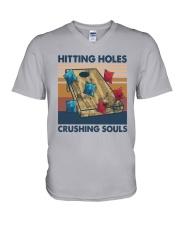 Vintage Hitting Holes Crushing Souls Shirt V-Neck T-Shirt thumbnail