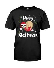 Christmas Merry Slothmas Shirt Classic T-Shirt front