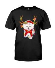 Bichon Frise Gorgeous Reindeer Shirt Classic T-Shirt front