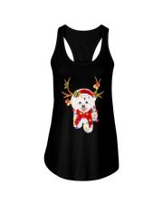 Bichon Frise Gorgeous Reindeer Shirt Ladies Flowy Tank thumbnail