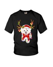 Bichon Frise Gorgeous Reindeer Shirt Youth T-Shirt thumbnail