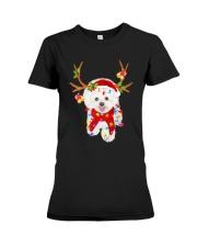 Bichon Frise Gorgeous Reindeer Shirt Premium Fit Ladies Tee thumbnail