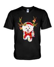 Bichon Frise Gorgeous Reindeer Shirt V-Neck T-Shirt thumbnail