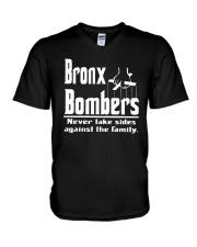 Bronx Bombers Never Take Sides Against Shirt V-Neck T-Shirt thumbnail