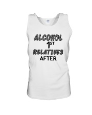 Alcohol First Relative After Shirt Unisex Tank thumbnail