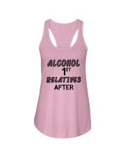 Alcohol First Relative After Shirt Ladies Flowy Tank thumbnail