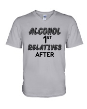 Alcohol First Relative After Shirt V-Neck T-Shirt thumbnail