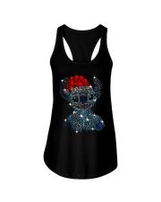 Stitch Diamond Christmas Shirt Ladies Flowy Tank thumbnail