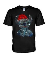 Stitch Diamond Christmas Shirt V-Neck T-Shirt thumbnail