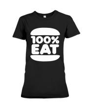Face Jam 100 Percent Eat Shirt Premium Fit Ladies Tee thumbnail