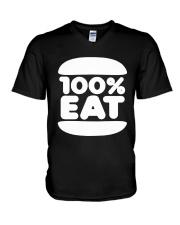 Face Jam 100 Percent Eat Shirt V-Neck T-Shirt thumbnail