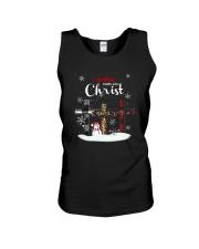 Leopard Print Christmas Begins With Christ Shirt Unisex Tank thumbnail