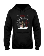 Leopard Print Christmas Begins With Christ Shirt Hooded Sweatshirt thumbnail