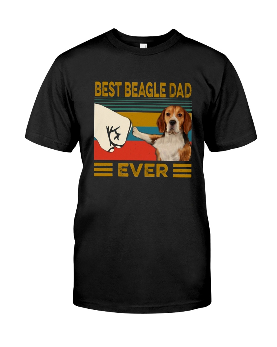 Vintage Best Beagle Dad Ever Shirt Classic T-Shirt