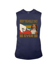 Vintage Best Beagle Dad Ever Shirt Sleeveless Tee thumbnail