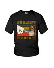 Vintage Best Beagle Dad Ever Shirt Youth T-Shirt thumbnail