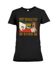 Vintage Best Beagle Dad Ever Shirt Premium Fit Ladies Tee thumbnail