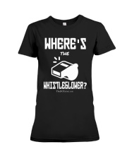 Matt Couch Where's The Whistleblower Shirt Premium Fit Ladies Tee thumbnail