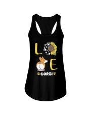 Sunflower Love Corgi Shirt Ladies Flowy Tank thumbnail