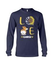 Sunflower Love Corgi Shirt Long Sleeve Tee thumbnail