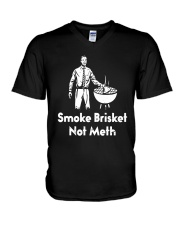 Smoke Brisket Not Meth Shirt V-Neck T-Shirt thumbnail