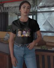 Halloween Pumpkin Hippie Skull Shirt Classic T-Shirt apparel-classic-tshirt-lifestyle-05