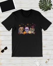 Halloween Pumpkin Hippie Skull Shirt Classic T-Shirt lifestyle-mens-crewneck-front-17