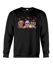 Halloween Pumpkin Hippie Skull Shirt Crewneck Sweatshirt thumbnail