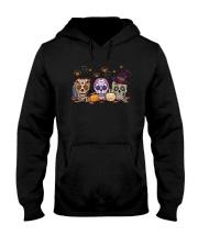 Halloween Pumpkin Hippie Skull Shirt Hooded Sweatshirt thumbnail