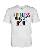 Kindness Begins With Me Shirt V-Neck T-Shirt thumbnail