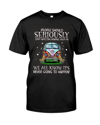 Hippie Car People Should Stop Expecting Normal Tee