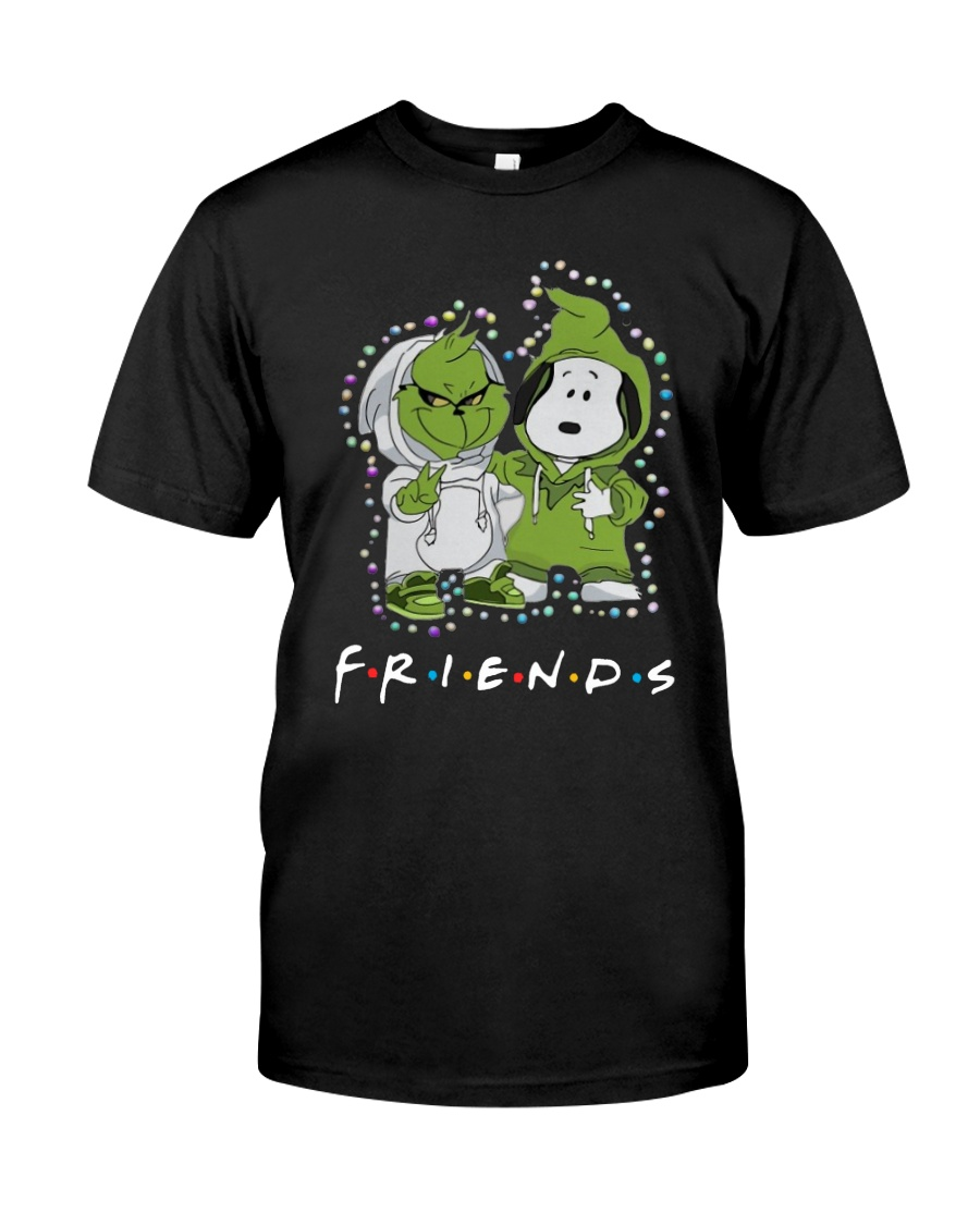 Baby Grinch And Snoopy Friends Shirt Classic T-Shirt