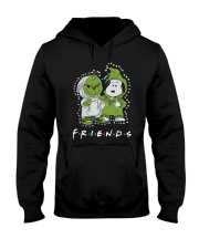 Baby Grinch And Snoopy Friends Shirt Hooded Sweatshirt thumbnail