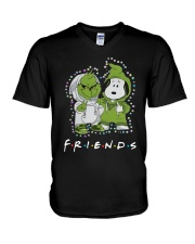 Baby Grinch And Snoopy Friends Shirt V-Neck T-Shirt thumbnail