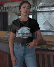 LGBT Tranosaurus Shirt Classic T-Shirt apparel-classic-tshirt-lifestyle-05