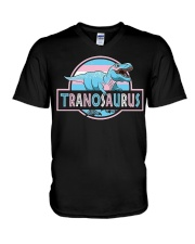 LGBT Tranosaurus Shirt V-Neck T-Shirt thumbnail
