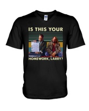 Vintage Is This Your Homework Larry Shirt V-Neck T-Shirt thumbnail