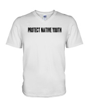 Protect Native Youth Shirt V-Neck T-Shirt tile
