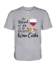 I'm Retired My Job Is To Collect Wine Corks Shirt V-Neck T-Shirt tile