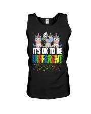 Autism Unicorns It's Ok To Be Different Shirt Unisex Tank thumbnail