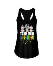 Autism Unicorns It's Ok To Be Different Shirt Ladies Flowy Tank thumbnail