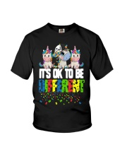 Autism Unicorns It's Ok To Be Different Shirt Youth T-Shirt thumbnail