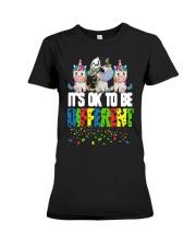 Autism Unicorns It's Ok To Be Different Shirt Premium Fit Ladies Tee thumbnail