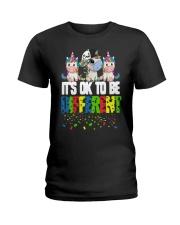 Autism Unicorns It's Ok To Be Different Shirt Ladies T-Shirt thumbnail