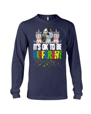 Autism Unicorns It's Ok To Be Different Shirt Long Sleeve Tee thumbnail