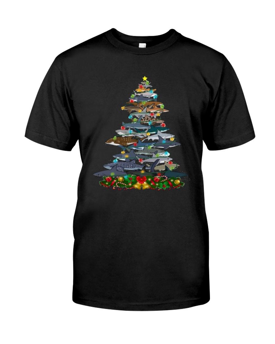 Shark Christmas Tree Shirt Classic T-Shirt