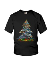 Shark Christmas Tree Shirt Youth T-Shirt thumbnail