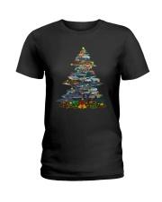 Shark Christmas Tree Shirt Ladies T-Shirt thumbnail