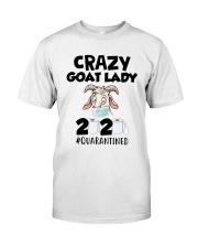 Crazy Goat Lady 2020 Quarantined Shirt Classic T-Shirt front