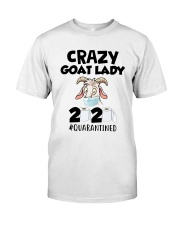 Crazy Goat Lady 2020 Quarantined Shirt Premium Fit Mens Tee thumbnail